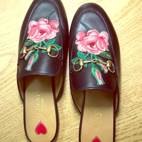 4b53c964c6c Gucci Shoes - Gucci Princetown Loafer Mule with Flower Rose